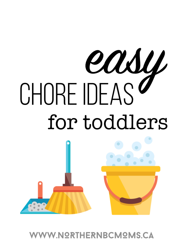 Easy Chore Ideas for Toddlers #housecleaning #toddlers #preschoolers #chores