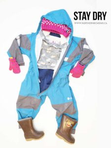 Stay Dry Layer for Outdoor Play with Toddlers in Northern BC