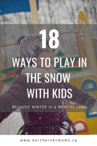18 Activities for toddlers in the snow