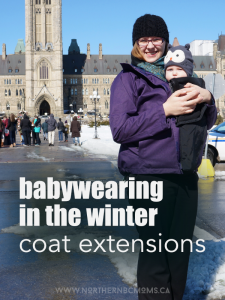 Babywearing in the Winter with Coat Extensions - Make My Belly Fit - for canadian winters