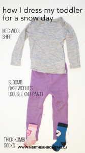 Base Layer to dress a toddler for a Snow Day