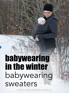 Use a Babywearing Sweater for the winter