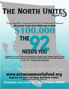The North Unites in Mackenzie, BC for the Aviva Community Grant