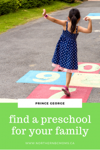 Preschools in Prince George, BC for parents and families 3-5 years old.