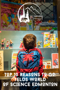 Telus World of Science Marvel Universe of Superheroes Display Northern BC Moms Blog Post