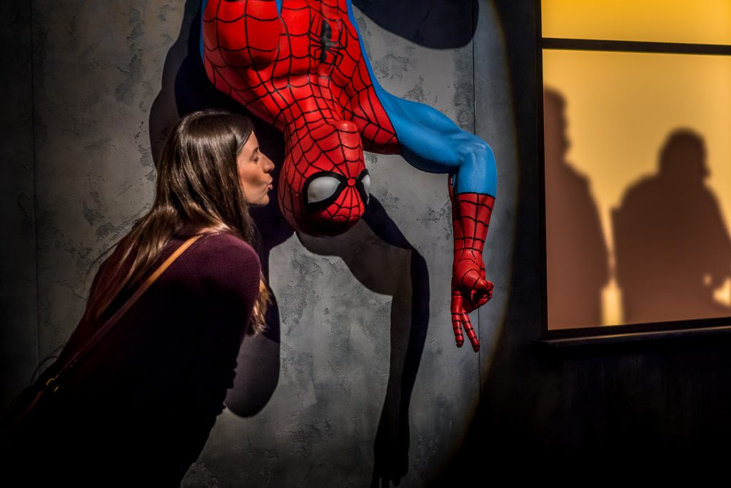 Telus World of Science Mom Kissing Spiderman