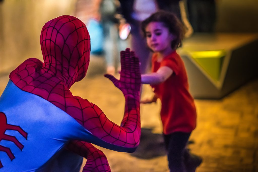 Telus World of Science Spider Man High Five